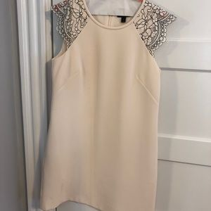 Jcrew dress with lace cap sleeves
